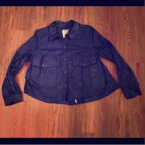 HEI HEI Anthropologie blue coated jacket